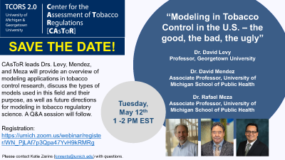 Image from Modeling in Tobacco Control in the U.S. – the good, the bad, the ugly